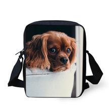 Dachshund FORUDESIGNS Messenger Bag Para Meninos Miúdo Meninas Pequeno Saco Corpo Cruz Bonito Do Cão de Impressão Dos Homens Das Mulheres Viajar Sacos de Ombro(China)