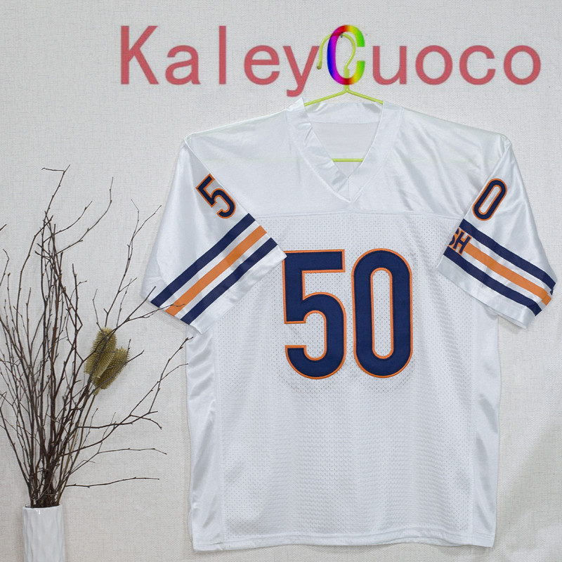 Retro star #50 Mike Singletary Embroidered Throwback Football Jersey M&N 48 50 52 54 56 Jerseys(China (Mainland))