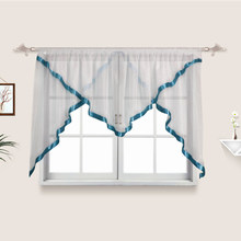 Flying White Sheer Kitchen Tulle Curtains for home window Perspective tulle for Blinds French Curtains Drapes Drop Shipping(China)