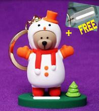 2019 NOVA SÉRIE!!! brinquedos figura Da Boneca Chaveiro Urso Dos Desenhos Animados charme para garrafa térmica copo caneca presente amigo anel brinco(China)