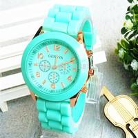 gratis verzending hot 2014 beste verkopen mode horloge horloges dames casual merk siliconen gelei sport quartz horloge voor vrouwen
